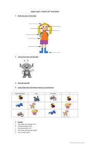 have has parts of the body worksheet free esl printable