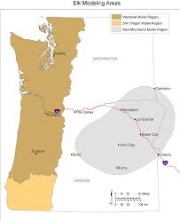 map of just oregon pacific northwest research station elk habitat selection in