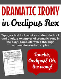 dramatic irony in oedipus rex graphic organizer graphic