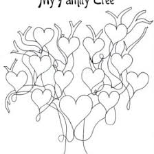 family tree coloring pages kids printable family tree az coloring pages heart tree coloring