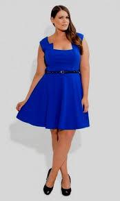 royal blue skater dress plus size naf dresses