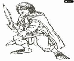 pippin hobbit frodo u0027s friend coloring door decs