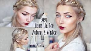 Quick Easy Hairstyles For Girls by Easy Cute Winter Braid Hairstyle Youtube