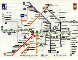 Berlin Germany Map by Berlin U Bahn Map From 1977