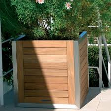 Cheap Planter Boxes by Teak Planter Box Modern Patio Chicago By Home Infatuation