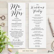 printing wedding programs edit print this free wedding timeline program