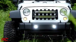 jeep wrangler square headlights installing 2007 2017 jeep wrangler jk square 2 inch led light cube