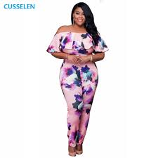 plus size white rompers and jumpsuits autumn fashion shoulder print plus size rompers womens