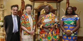 the princess royal visits ghana the royal family
