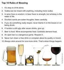 top 10 drinks order bar top 10 rules of boozing 1 it s okay to drink alone 2 vodka can be