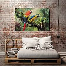 parrot home decor 24 x36 hd canvas print home decor art painting no frame parrot