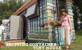 a punk rock shipping container tiny house