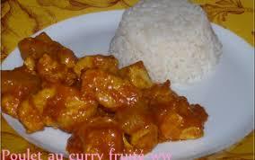 cuisine sucré salé recette poulet au curry fruité sucré salé 750g