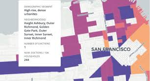 san francisco eviction map map monday evictions by demography data smart city solutions