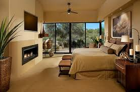 Bathroom Earth Tone Color Schemes - master bedroom with warm neutral tones african style interior