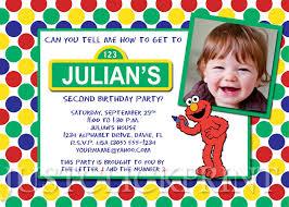 sesame street elmo birthday invitation printable just click