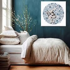 d馗o chambre bleu canard décoration murale bleu canard toile design et moderne d izoa