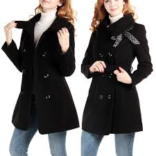 double breasted winter wool belt women u0027s coat outwear