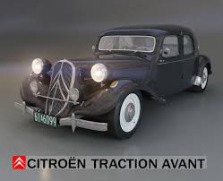 classic citroen citroen traction avant 3d model in classic cars 3dexport