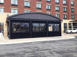 Clear Vinyl Patio Enclosure Weather Curtains by Outdoor Dining For Any Season With Patio Enclosures Alpha Canvas