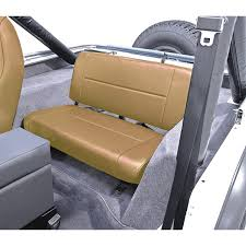 jeep backseat rugged ridge 13461 04 fixed rear seat tan 55 95 jeep cj and wrangler