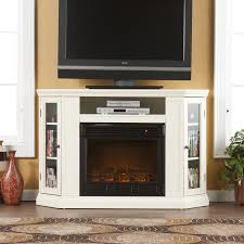 corner tv stand with glass doors inspirations beautiful corner fireplace tv stand for living room