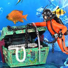 aliexpress buy treasure chest frogman diver resin