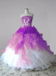 multi color wedding dress multi colored strapless gown floor length rainbow quinceanera