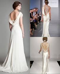robe de soirã e chic pour mariage robes de mariage au dos drapé formé dun u dans les collections