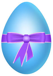 easter blue egg with purple bow png clipart picture gallery