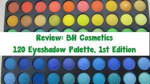 review bh cosmetics 120 eyeshadow palette 1st edition youtube