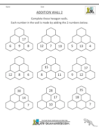 fascinating math addition worksheets 1st grade fact family first