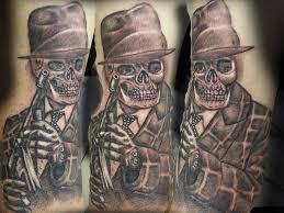 Gangsta Love Quotes by Gun In Gangster Hand Tattoo On Man Side Rib By Matt Saiko