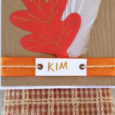 thanksgiving ribbon thanksgiving place card and greeting card the casual craftlete