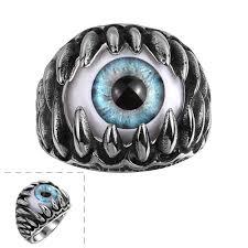 rings of men new claw evil eye men s stainless steel ring bague homme