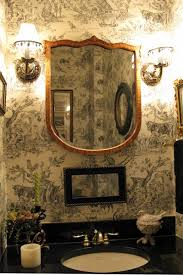 Toile Bathroom Wallpaper by 29 Best Toile Bathrooms Images On Pinterest Toile Bath And
