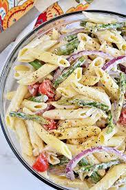 creamy pasta salad recipe asparagus pasta salad with creamy lemon dressing tidymom