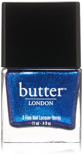 amazon com butter london nail lacquer black u0026 blue shades