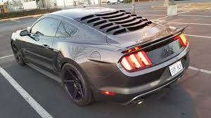 mmd mustang abs rear window louvers 389636 15 17 fastback free