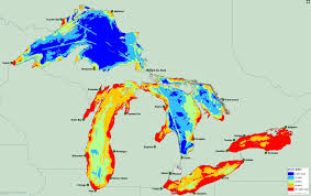 Michigan State Land Map by Researchers Map 34 Threats To The Great Lakes Michigan Radio
