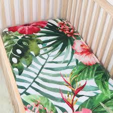 Muslin Crib Bedding Digital Print Poppy Cotton Muslin Baby Fitted Crib Sheet Changyi