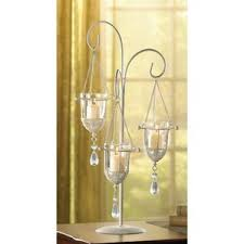 Vintage Bohemian Lead Crystal Candle Holder For Three Candles Candelabras You U0027ll Love Wayfair