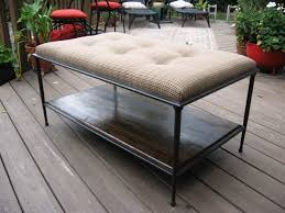 coffee tables splendid black rectangle rustic leather tufted