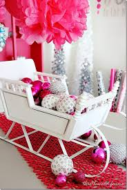 Baby Pink Christmas Decorations Top 40 Sleigh Sled Decoration Ideas For Christmas Christmas