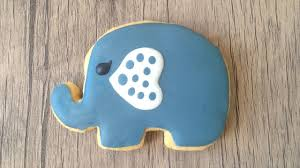 decorated elephant cookies with royal icing youtube