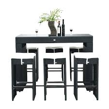 Narrow Bar Table Bar Table Stools Setoutdoor Wicker Pub Table With Bar Stools 5