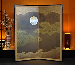 tsukitokumo folding japanese screen unique japan uniquejapan com