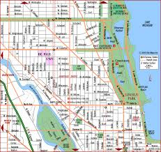 chicago map streets road map of chicago lincoln park gold coast chicago illinois