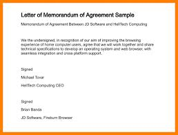 6 samples of memorandum of agreement hostess resume