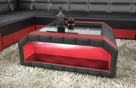 red and black coffee table leather coffee table black luxurious leather coffee table